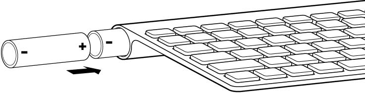 batterijen toetsenbord